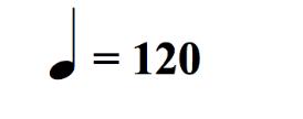 indicazione metronomo